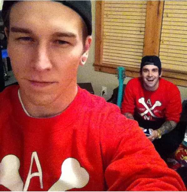 Justin & Jack with their matching Anthem Made shirts  :P D'awww