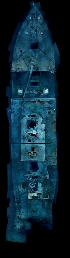 National Geographic and a team of researchers have unveiled new images of the Titanic, revealing unrestricted views of the wreck for the first time ever for the 100th anniversary. The detailed, sweeping images of the sunken ship were made by stitching together hundreds of optical and sonar images collected by three deep-diving robots during a 2010 Woods Hole Oceanographic Institution expedition. hensleyphoto