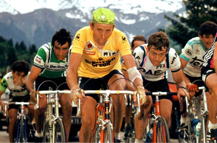Tour de France 1980. Da sin. Robert Alban (1952), Joop Zoetemelk (1946) e Jo Maas (1954)
