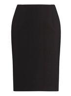 Womens DP Curve Plus Size Black Bengaline Pull On Skirt- Black
