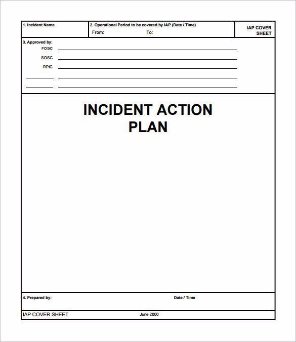 Incident Action Plan Template Luxury Incident Action Plan Template