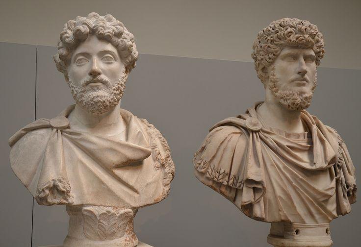 Co-emperors Marcus Aurelius and Lucius Verus, British Museum | da Following Hadrian