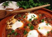 » Kefta Mkaouara {Moroccan Spicy Meatball & Tomato Tagine with Poached Eggs} Lemony Thyme