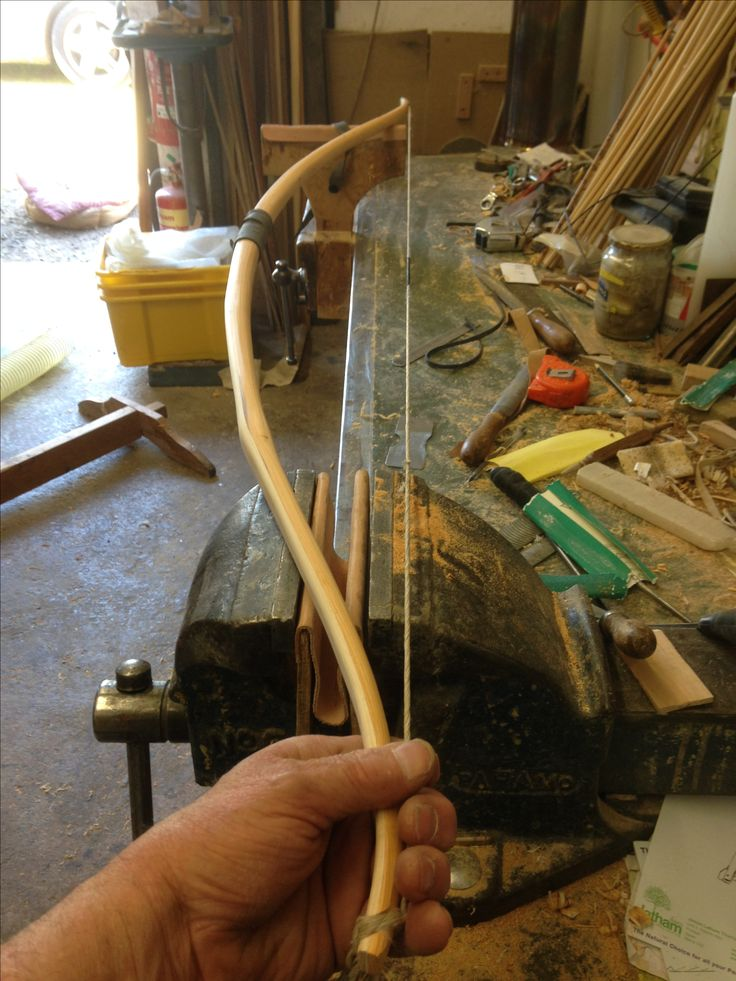 Early stages of tillering English Yew & Ash continental bow