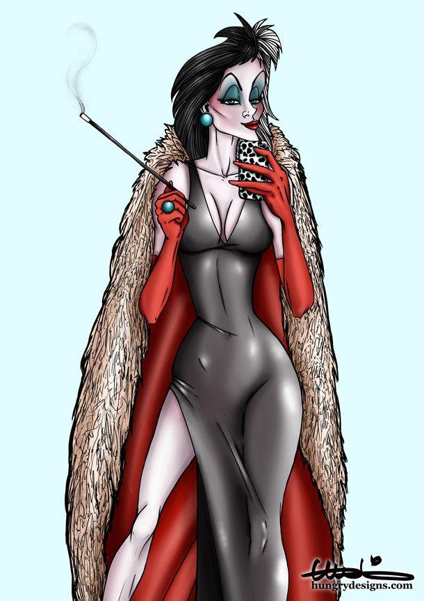 Selfie Cruella Deville from 101 Dalmatians by HungryDesigns.deviantart.com on @DeviantArt