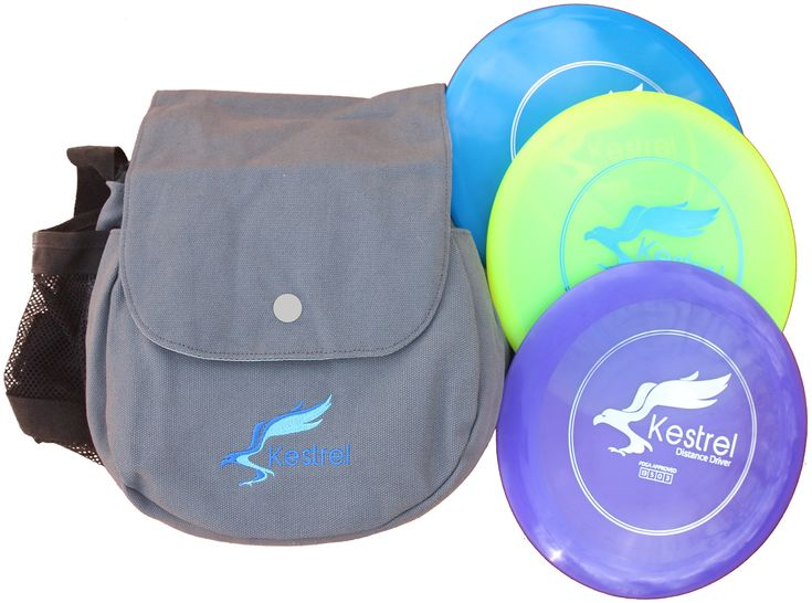 Kestrel Disc Golf Pro Set | 3 Disc Pro Pack Bundle + Bag | Disc Golf Set | Includes Distance Driver, Mid-Range and Putter | Frisbee Golf Set. PDGA APPROVED | Made with flexible plastic to give you the bend and distance you need in your game. 172 Grams with perfect molds for distance, accuracy and flexibility. INCLUDES 3 DISCS + SHOULDER BAG | Includes Fairway Driver, Mid-Range and Putter and Disc Golf Bag to get your on the course as quickly as possible. You can fit up to 12 discs in a…