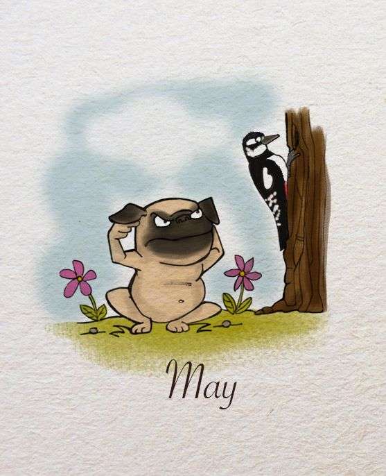 A blind person could need a dog to be able to move. I need my little Flurin, a happy chubby pug who give me always good inspiration and make me smile all the time… and I really do love to smile and laugh! I made these drawings to tell him: thank you!