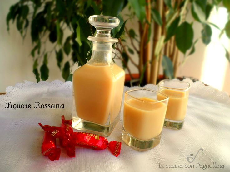 Liquore Rossana con bimby e senza.