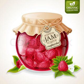 Raspberry jam jar