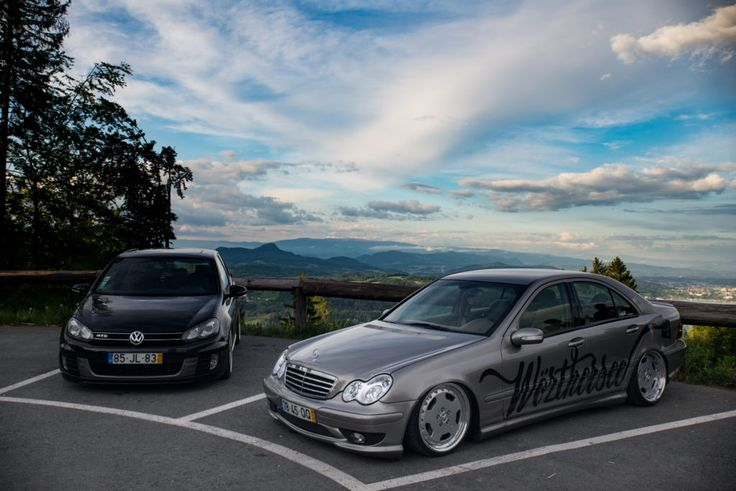 Wörthersee 2017-Mercedes C203-3-teilige-Felgen-Golf-6-GTD-Pyramidenkogel-Wörtherseetreffen-Treffen-Tuning