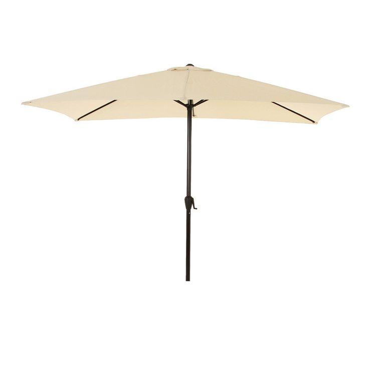 Parasol inclinable rectangulaire Fidji (3 x 2 m) - Sable : choisissez parmi tous nos produits Parasol inclinable