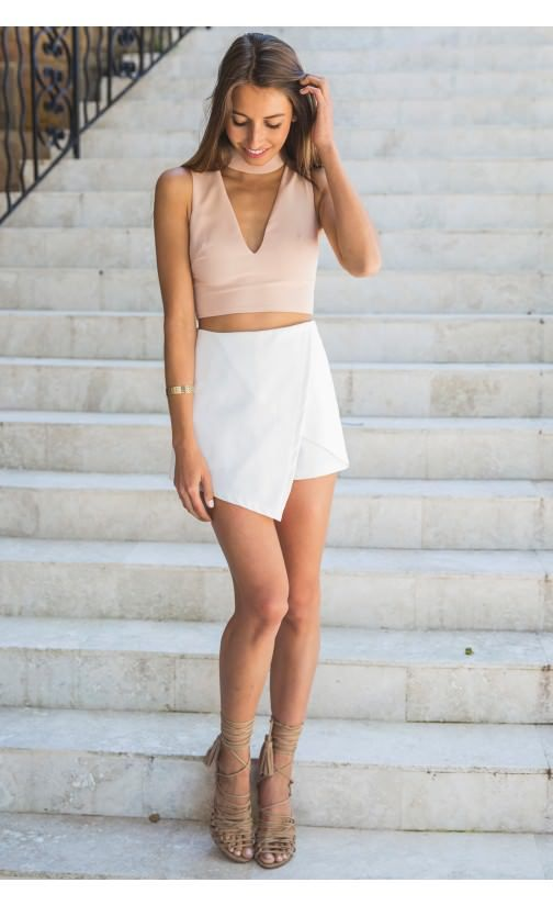 Envelope Skort White