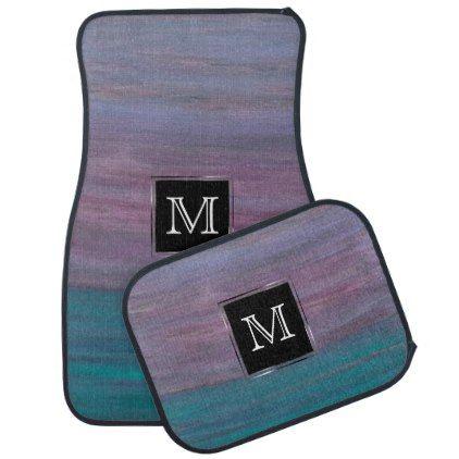 #monogrammed - #Visionary Auto | Monogram Pink Purple Turquoise Car Floor Mat