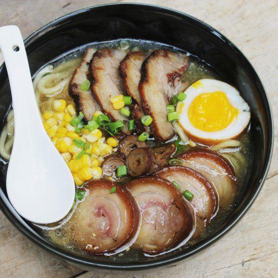 Homemade Tonkotsu Ramen, Japanese Pork Bone Broth Noodle ...