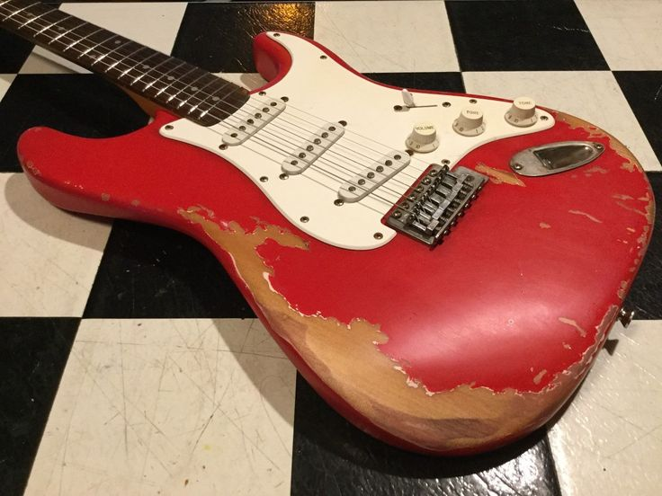 Heavy Relic Fender Squier Affinity Strat Electric Guitar Used Aged Worn