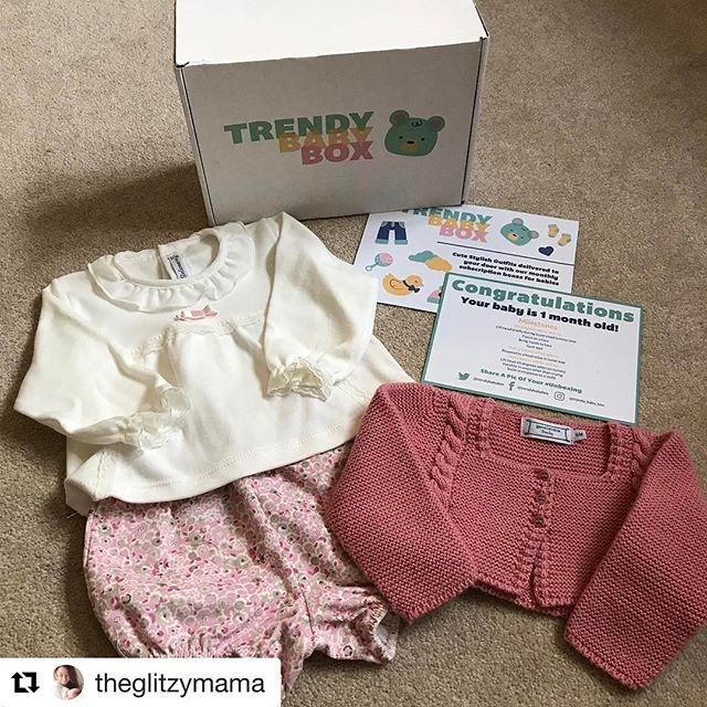 So pleased to see one of our babies receiving and enjoying their box #Repost @theglitzymama with @repostapp ・・・ Thank you so much @trendy_baby_box 💖💖💖 We LOVE our first box!! Just beautiful!! Get following o