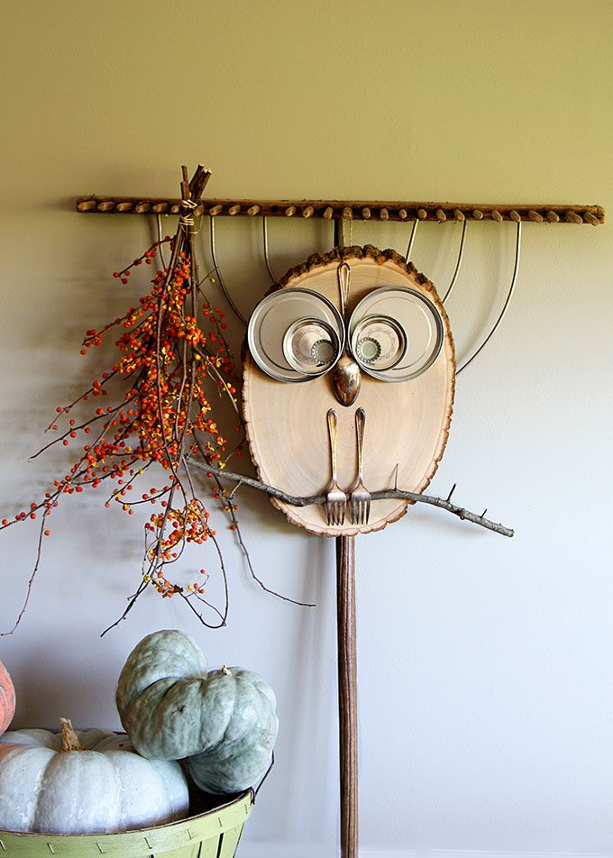 DIY Wood Slice Owl Fall Home Decor Awesome And For Kids