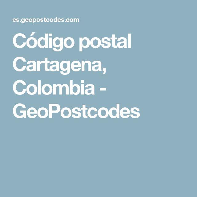 Código postal Cartagena, Colombia - GeoPostcodes