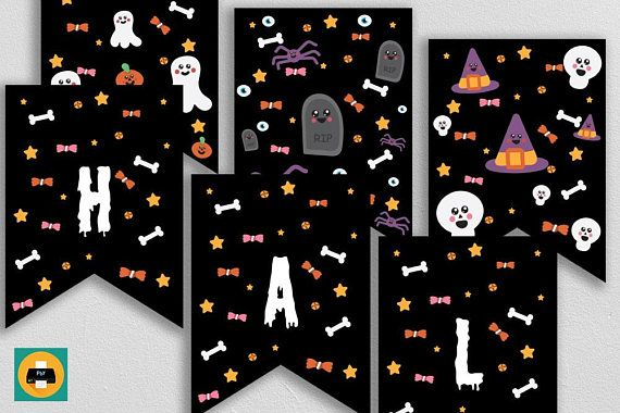 ◆Printable Halloween kawaii pennant banner, Halloween garland pennants, Printable bunting decoration◆  INSTANT DOWNLOAD - Happy Halloween pennant banner with cute Halloween decorations. Perfect for your (last minute) Happy Halloween kids party. This is a printable pennant banner which comes in 2 sizes (small and large pennants) and for printing on A4 paper or Letter size paper. You can print this LAST MINUTE.  ◆WHATS INCLUDED: Within minutes of your order and payment, an email will be sent…