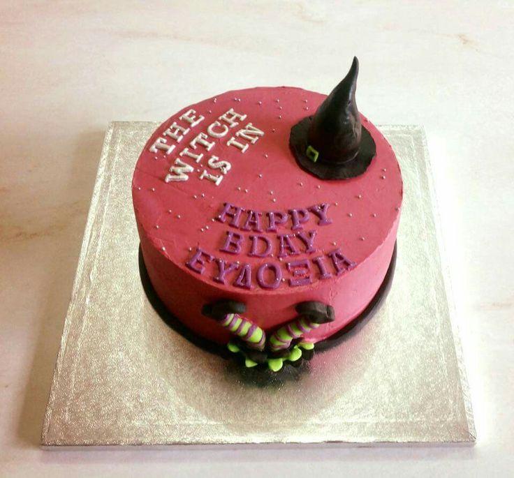 Little witch birthday cake