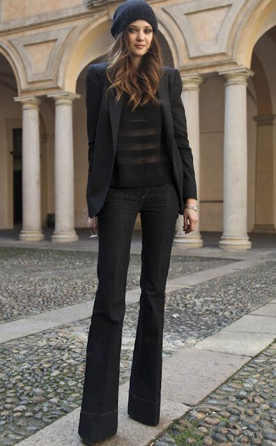 I wish I had that kind of height to pull this look off. So chic.