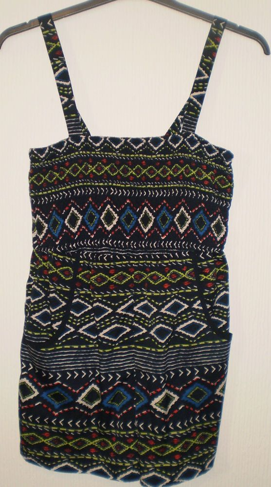 Band of Gypsies Multi Coloured Pattern Shorts All in One Playsuit, Size M 12