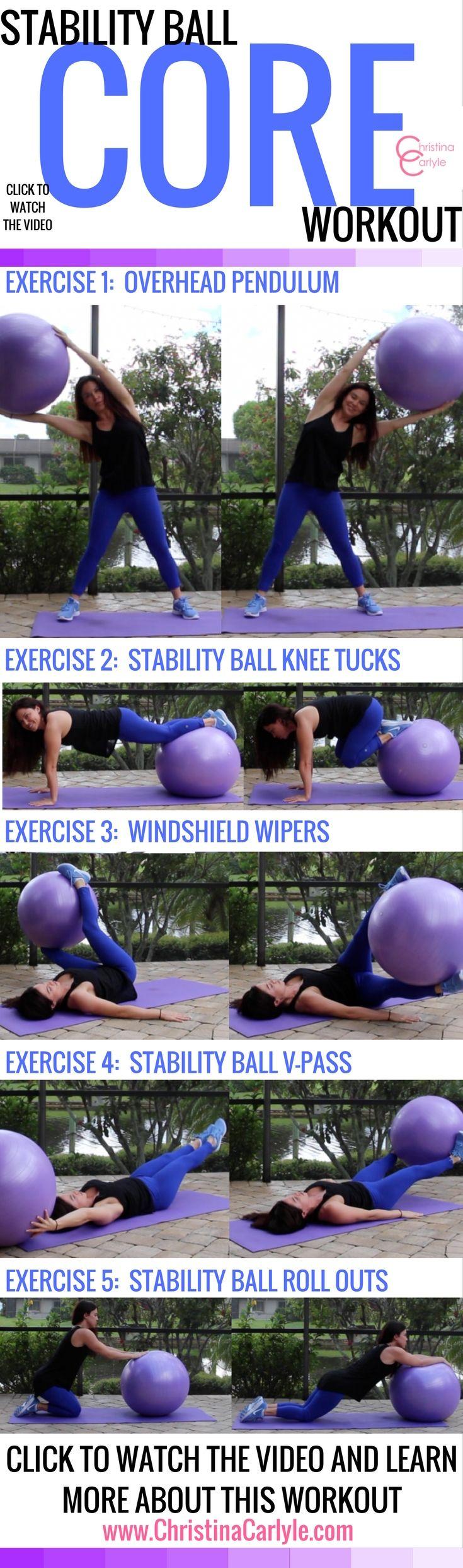 Stability Ball Core Workout