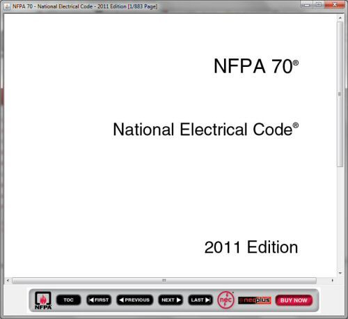 Free copy of the Electrical Code