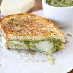 Parmesan Crusted Pesto Grilled Cheese Sandwich: Crusts Pesto, Food, Grilled Cheese Sandwiches, Cheese Sandwhich, Parmesan Crusts, Favorite Recipe, Pesto Grilled Cheeses, Grilled Chee Sandwiches, Parmesan Crusted