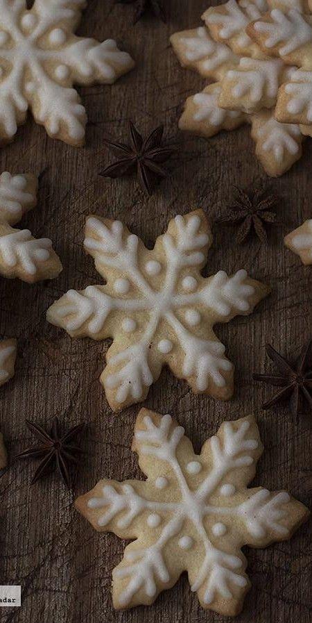Galletas copo de nieve
