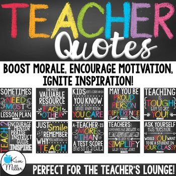 I love creating quotes, so since I'm a teacher, I love creating TEACHER QUOTES! There are a ton of quotes out there for students. Those quotes are great to hang in your classroom to inspire students, but what about teachers? Teachers need some inspiration, too! Our job is tough and sometimes we need small reminders that we are doing the best we can.