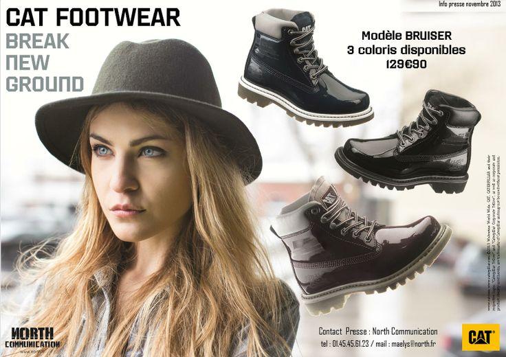 #catfootwear #SS14 #Bruiser #Breaknewground #fashion #shoes #trendy #workwear #CAT #Caterpillar