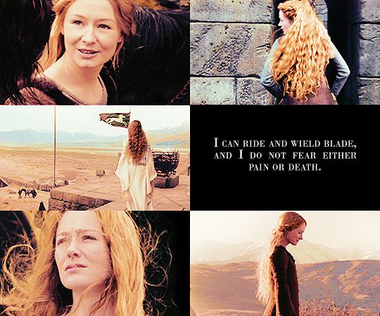 the two towers + éowyn 2/2      'What do you fear, lady?' he asked.     'A cage,' she said.