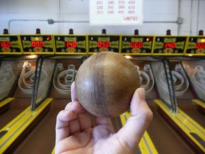 Skeeball at the Jersey Shore - I get a little obsessed when we are there. lol