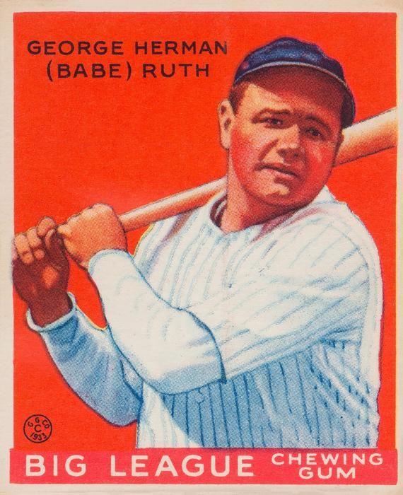 1933 Babe Ruth Goudey 149 Baseball Card Print Vintage Baseball Poster Rare Baseball Card Baseball Card Collector Baseball Card Art In 2021 Babe Ruth Baseball Baseball Card Values Babe Ruth
