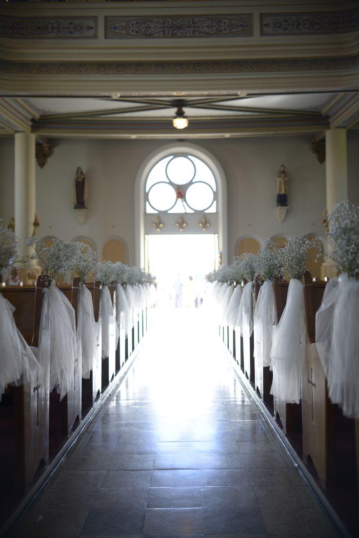 Church flowers - Baby's breath