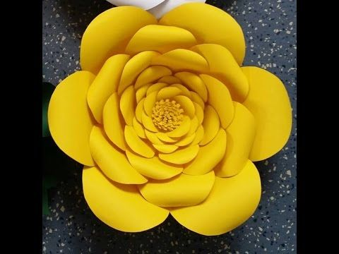How To Make Anastassia Giant Paper Flower  (free templates available for download on Anyone Can Craft Facebook page and website)