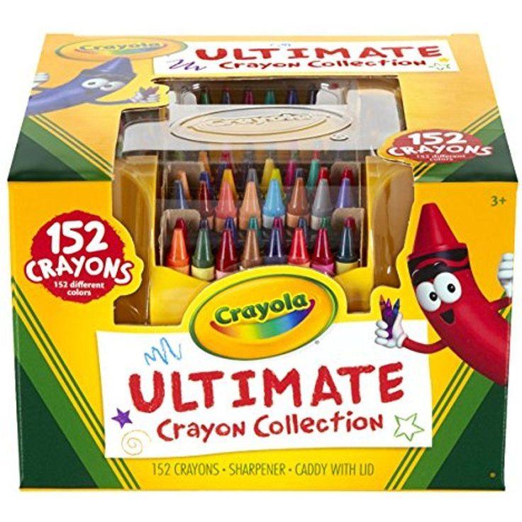 Crayon Box Crayola 152 Colors Collection Kids Art Tools Storage Case Drawing New #Crayola