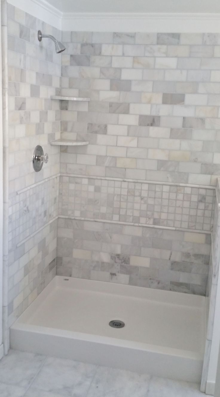 Pics photos tile bathroom shower - Best Bath Shower Pan With Tile Wall Surround