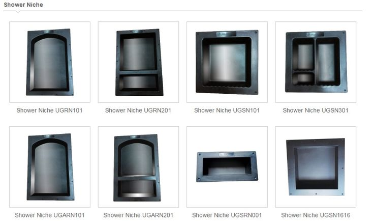 We are one of the leading manufacturers for recessed shower niche, preformed shower niche, ABS shower niche, tile ready shower pan, shower floor pan and shower drains. Read More: http://www.uni-greenplastics.com/index.aspx?lanmuid=91&sublanmuid=733