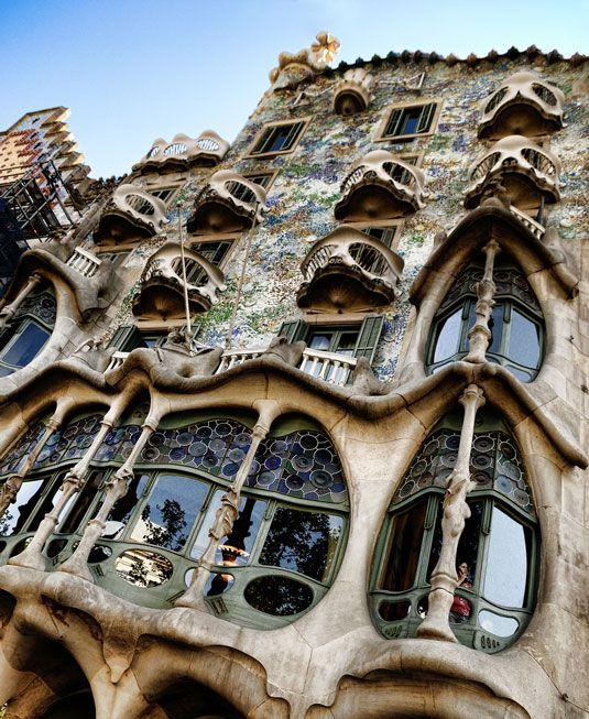 Casa Batllo: The 'House of Bones' - Antoni Gaudi. Barcelona, Spain (Art Nouveau) -- Need to see inside (http://www.casabatllo.es/en/)
