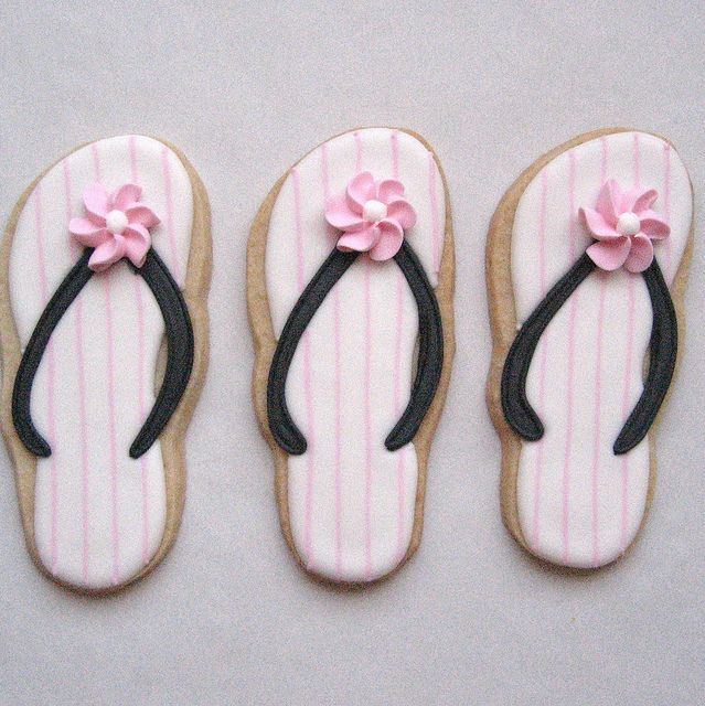 Flip Flop Cookies by Alis Sweet Treats (Andrea), via Flickr