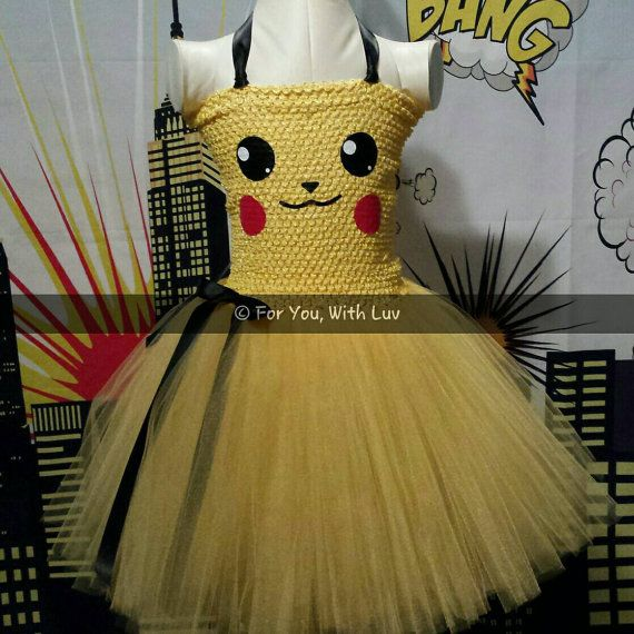 Hey, I found this really awesome Etsy listing at https://www.etsy.com/listing/458017578/pokemon-pikachu-tutu-dress-pokemon-tutu