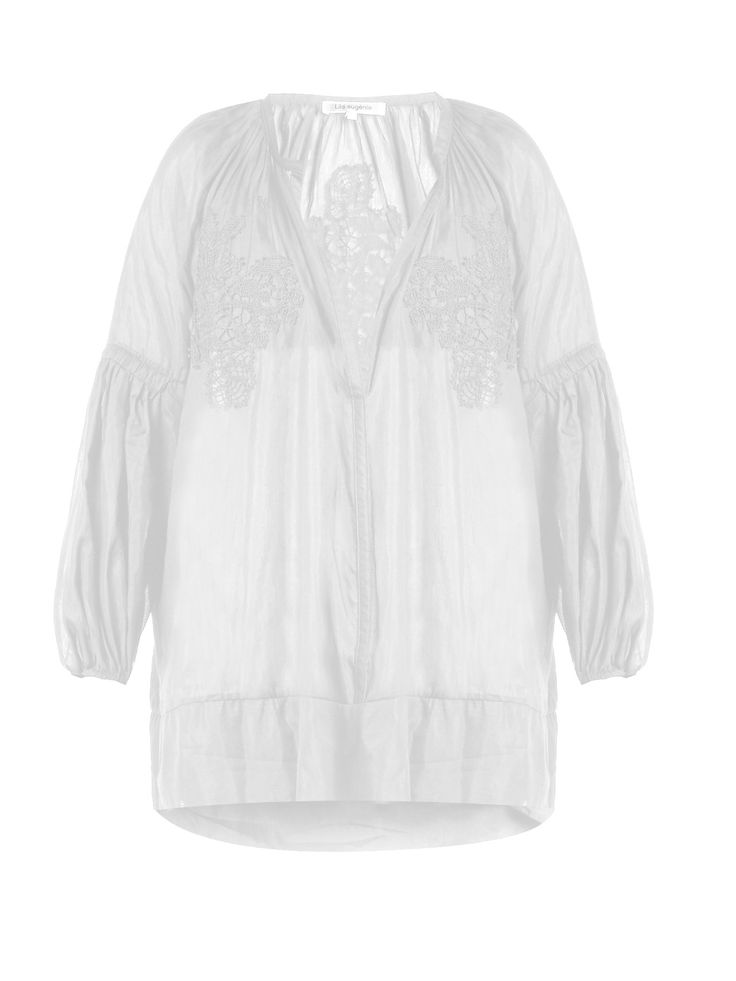 Cotton-blend voile cover-up | Lila Eugenie | MATCHESFASHION.COM