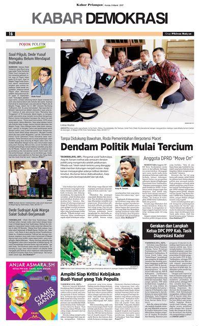 Layout Kabar Priangan Halaman Kabar Demokrasi, Kamis 9 Maret 2017 | LAYOUT KABAR PRIANGAN