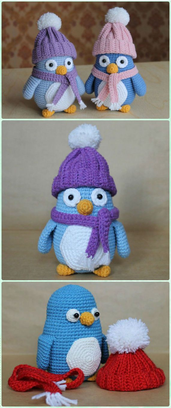 Crochet Amigurumi Baby Penguin Free Pattern - Amigurumi Crochet Sea Creature Animal Toy Free Patterns