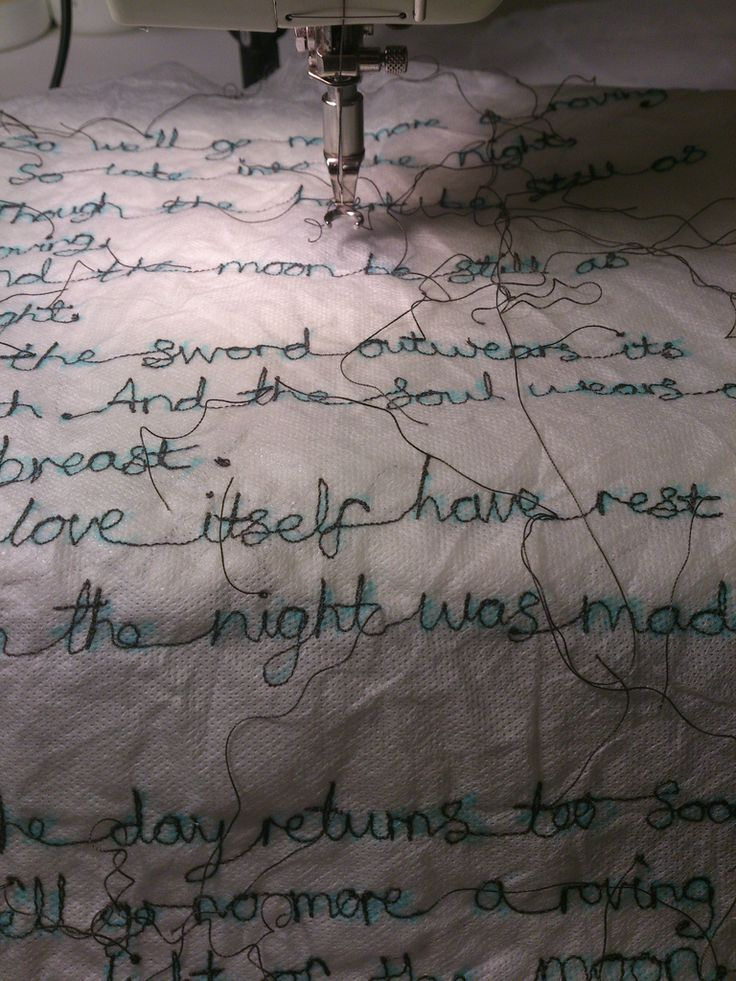 textile poetry process... | by maria wigley