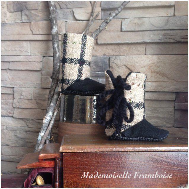 Mademoiselle Framboise sur La Boutique des arts CULTURAT - La boutique des artistes de l'Abitibi-Témiscamingue baby cloth booties