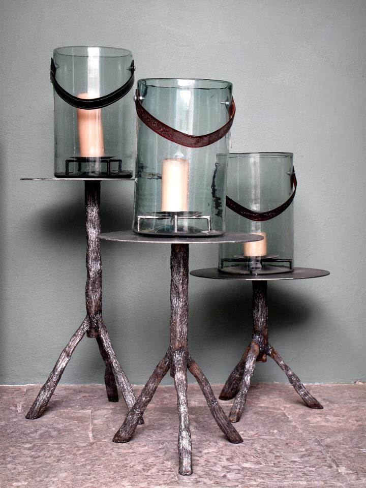 Casamidy Iron Tables With Bark Texture