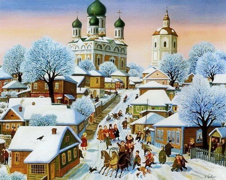Походка домиком или праздничные будни... Художник Валентин Губарев.